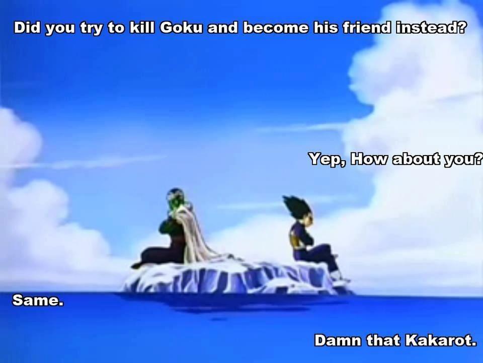 Damn that Kakarot. #Dragon Ball Z #DBZ