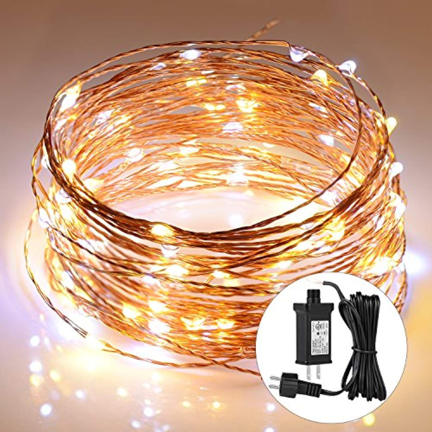 Boomile String Lights 39Ft 120 Leds, 2 Colors Interval Fairy
