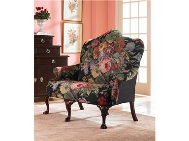 @Century Furniture Living Room Charlotte Settee, old world elegance at your seat.