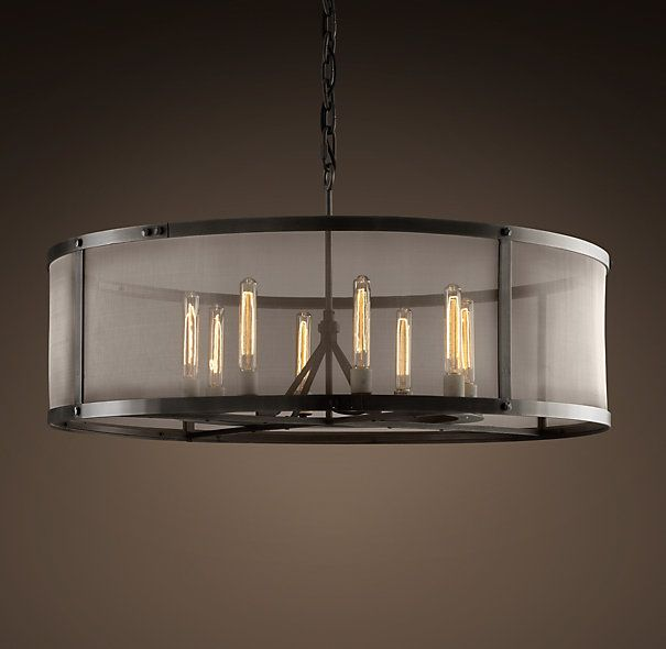 Riveted mesh chandelier large from restoration hardware big enough all ceiling lighting riveted mesh chandelier large from restoration hardware big enough for entryway 40 diameter aloadofball Image collections