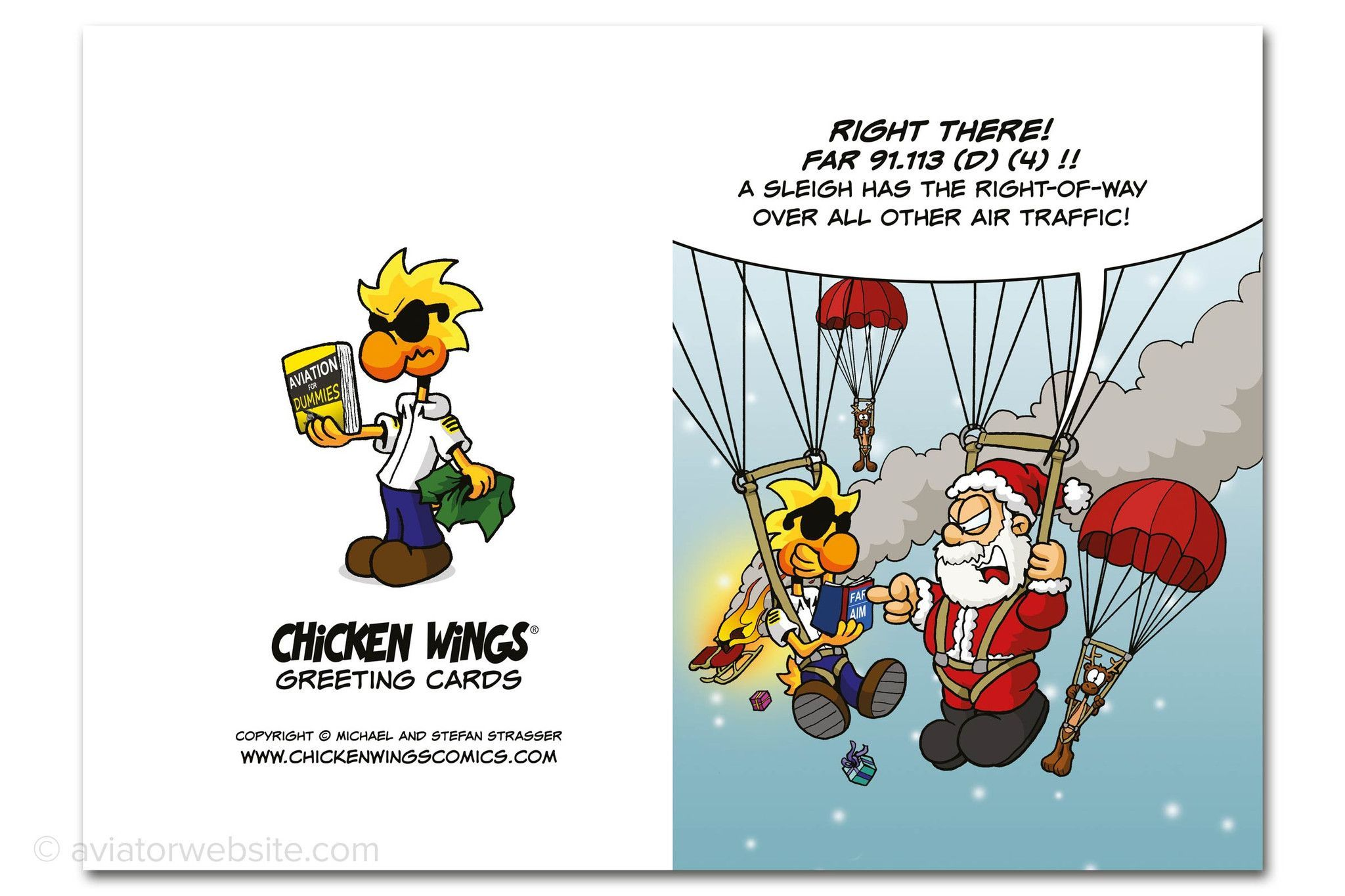Christmas card right of way chicken wings 10 cards funny christmas card right of way chicken wings 10 cards kristyandbryce Gallery