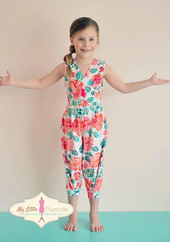 Girl Sewing Pattern - Jumpsuit - Capsule Wardrobe PDF Pattern | kid ...