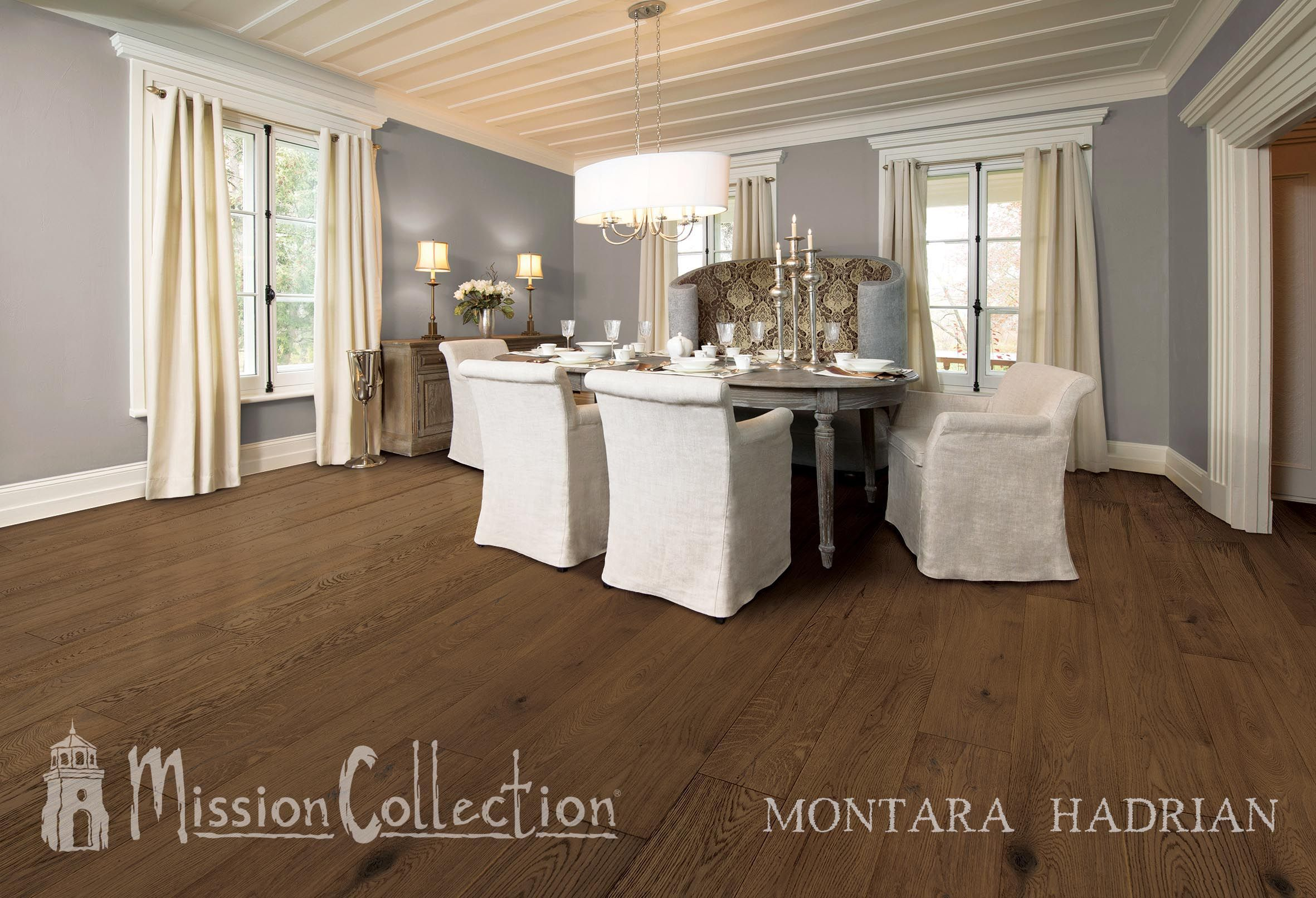 Montara's hand selected French Oak planks create a country chic and modern décor for your home.