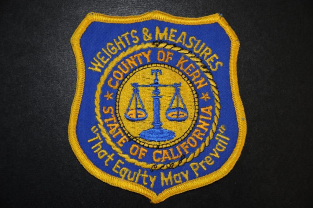 Kern County Weights and Measures Inspector Patch