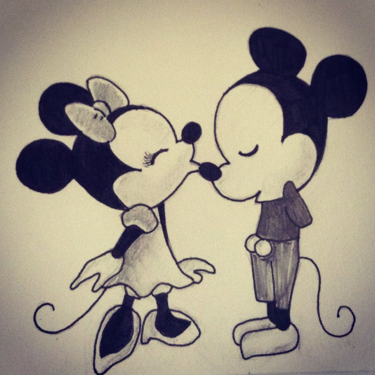 Mickey and Minnie Mouse drawing -Kelsey Engles | Sketches ...