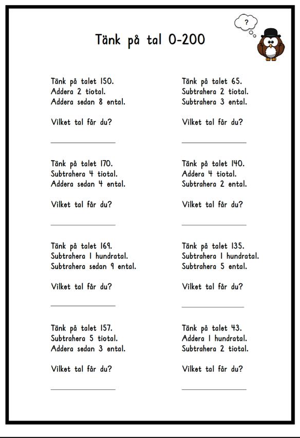 Tänk på tal 0-200 | Matikka | Pinterest | Math, 100 chart and Math ...