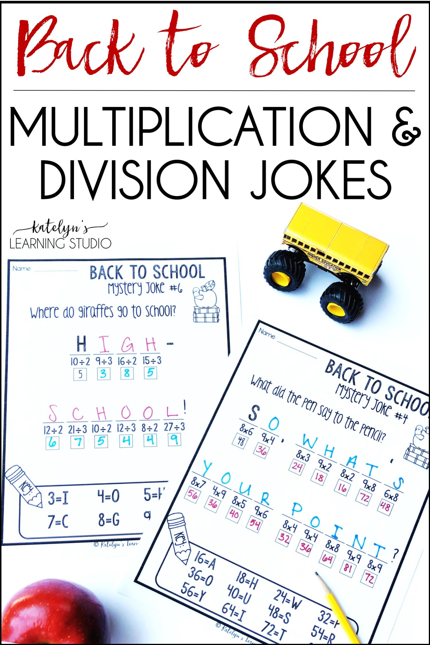 Back To School Multiplication And Division