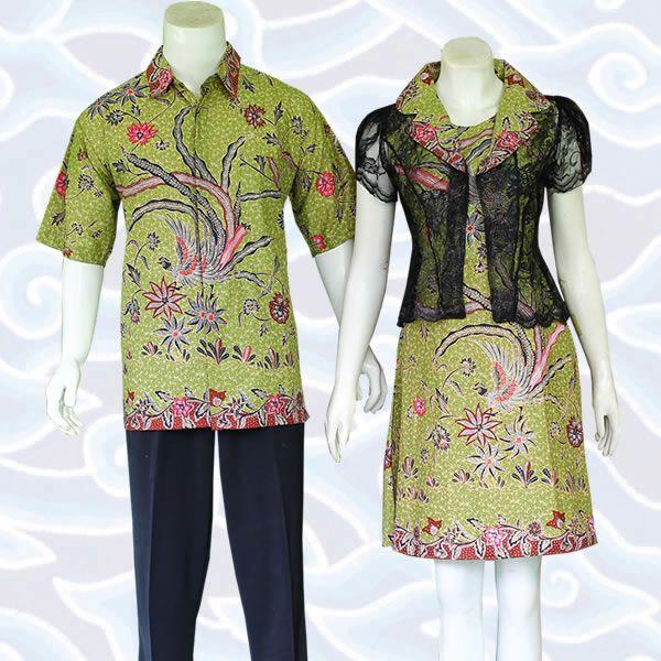 sarimbit couple model dress cantik elegan dengan motif burung