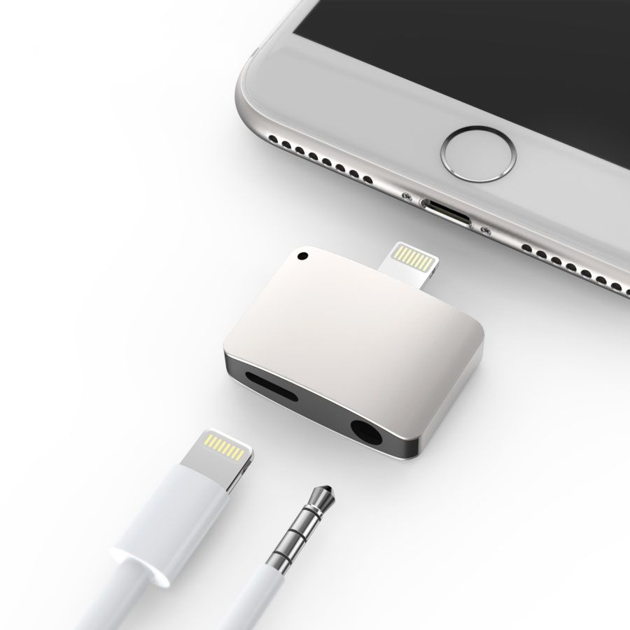 online retailer e8ad9 1958c iPhone 7 / 7 Plus Lightning Port to Headphone Jack and Lightning ...