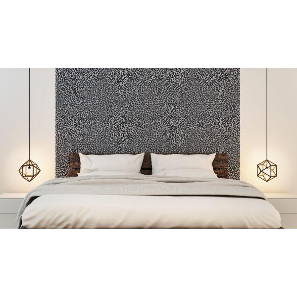Papier peint colette sable et gris anthracite pour une t te de lit spectaculaire guesthouse - Chambre parentale grise ...
