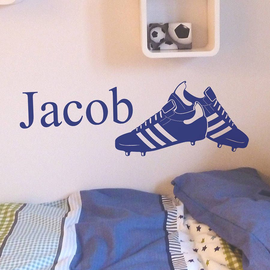 Personalised Football Boots Wall Sticker | Personalised football ...