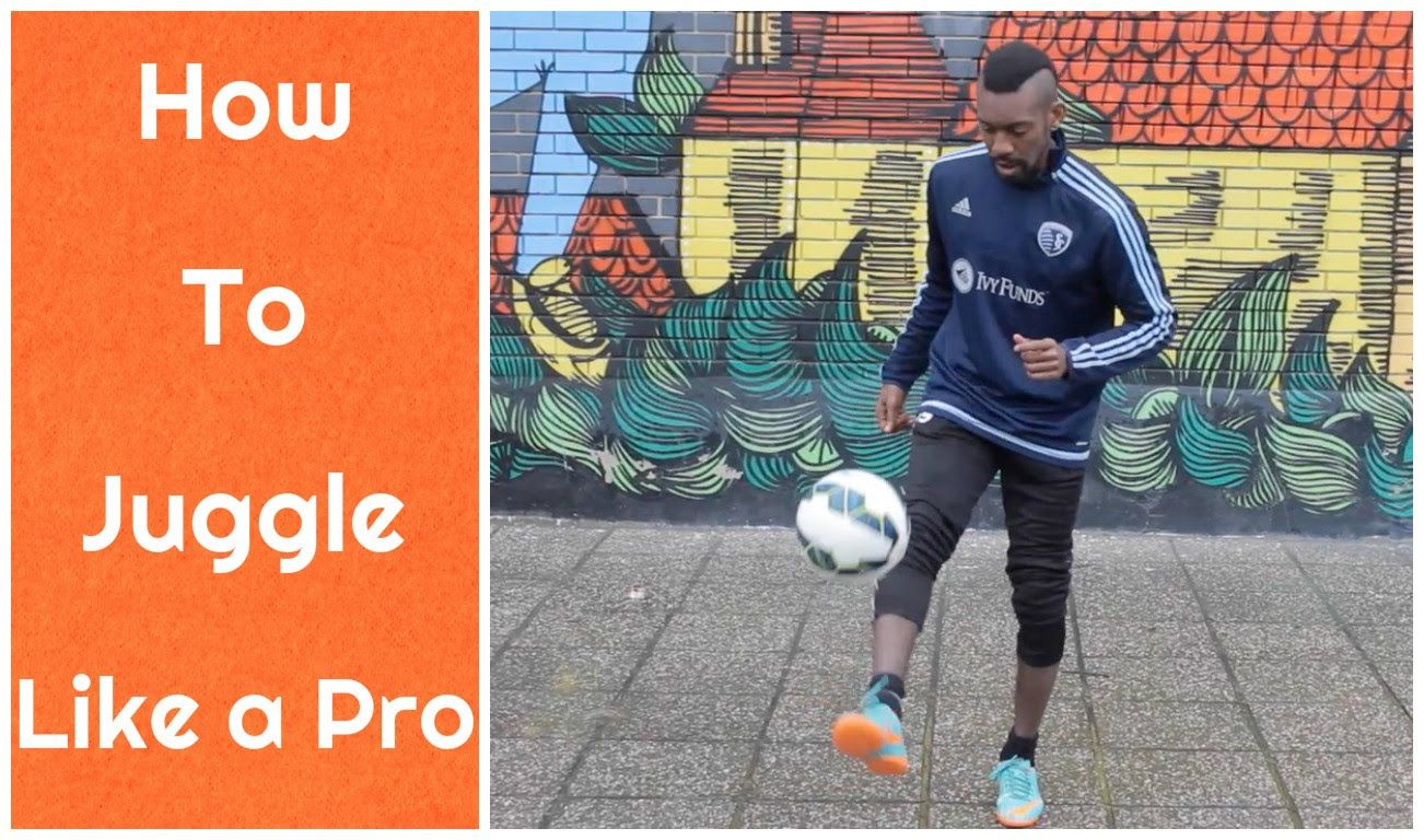 How to juggle a soccer ball break your juggling record