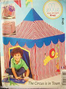 Mae Tent Mccalls Designs Circus Pattern K145 Kids Uncut Card Ellie OTXZiuPk