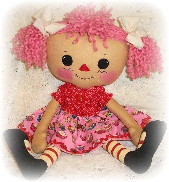 Rag Doll with yarn hair | Quilts, Fabric & Sewing | Pinterest ...