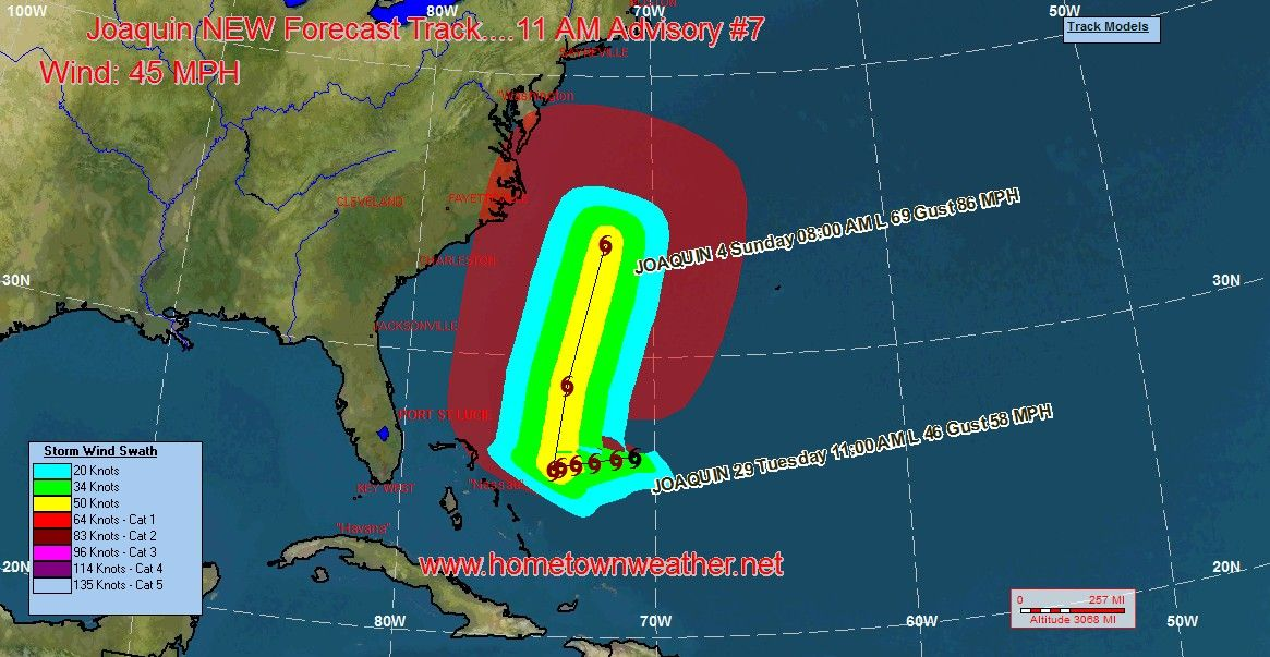 forecast Joaquin, Weather, Major models