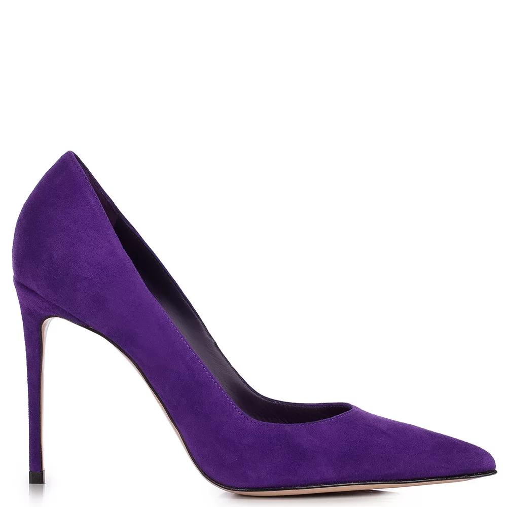 Eva Pump 100 Mm In 2020 Purple Suede Pumps Stiletto Heels