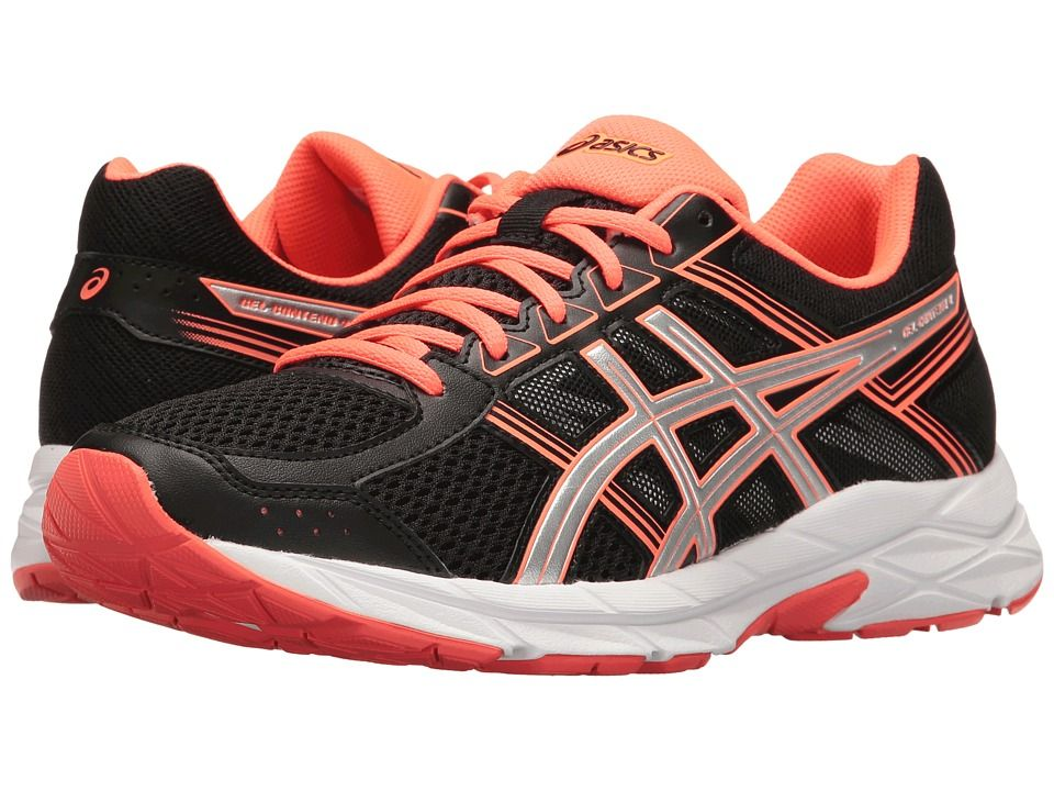 4d6a0c72ad7a ASICS ASICS - GEL-CONTEND 4 (BLACK SILVER FLASH CORAL) WOMEN S RUNNING SHOES.   asics  shoes