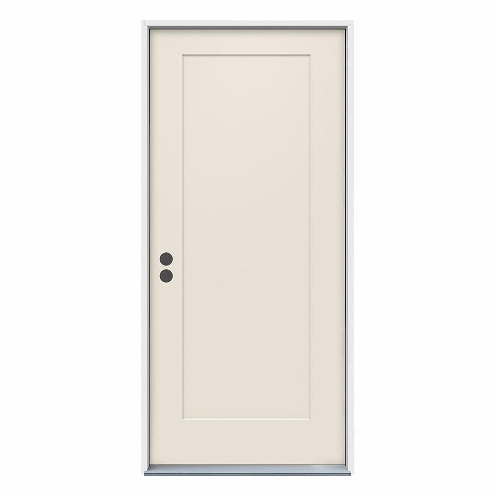 Jeld Wen 36 In X 80 In 1 Panel Craftsman Primed Steel Prehung Right Hand Inswing Front Door Thdjw166100375 In 2020 Jeld Wen Interior Doors Steel Doors Exterior Door Design Interior
