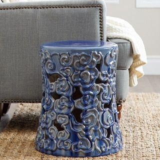 Shop for Abbyson Osla Antique Blue Ceramic Garden Stool. Get free shipping at Overstock.com - Your Online Garden