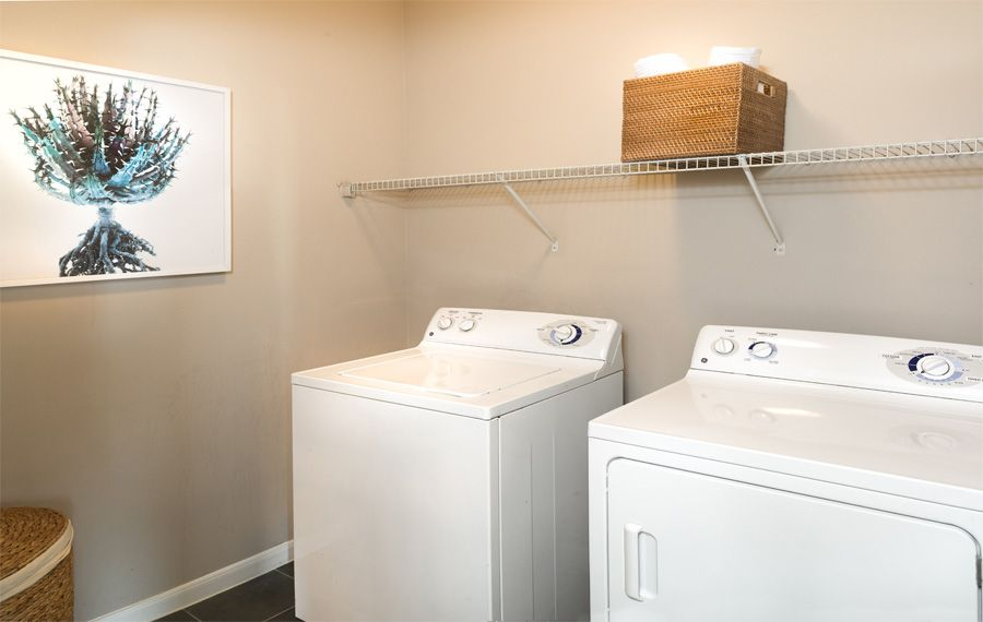 Fullsize washer and dryer included in every apartment