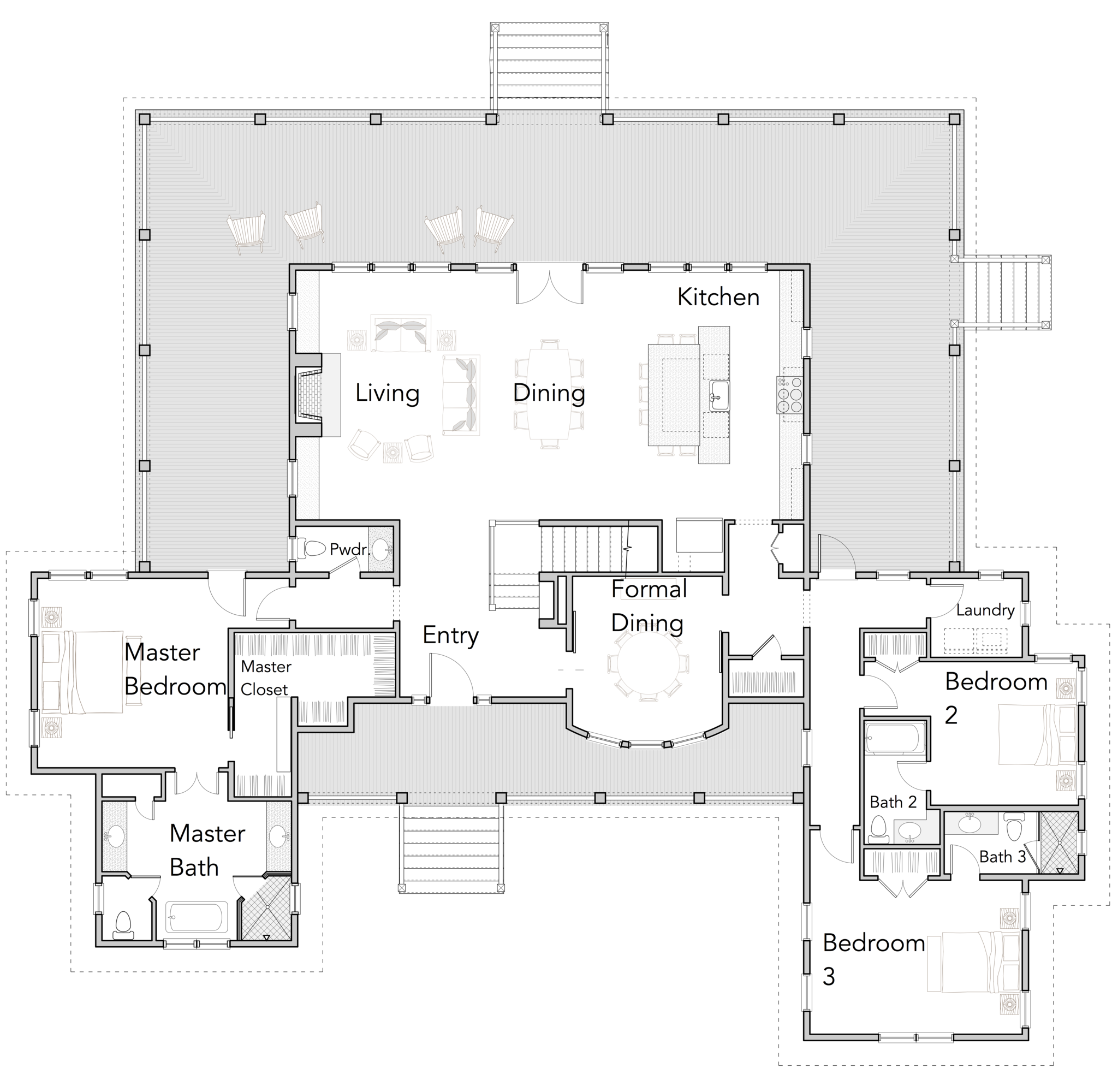 Large Open Floor Plans With Wrap Around Porches Rest Collection Flatfish Island Designs Coas Open Floor House Plans Farmhouse Floor Plans New House Plans