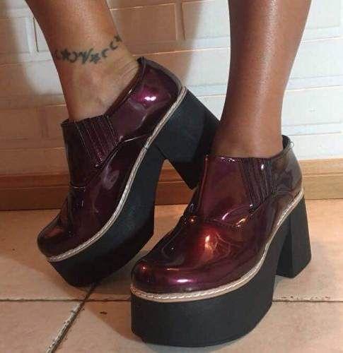 41827ffc botas botineta zapatos plataforma mujer charol moda 2018 | Moda in ...