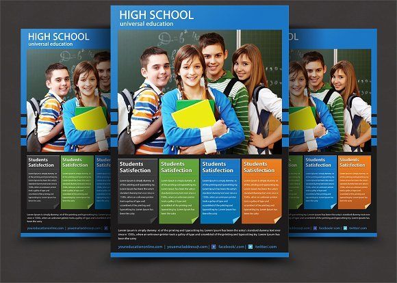 High School Flyer Templates Flyers Flyer Template And Schools - High school brochure template