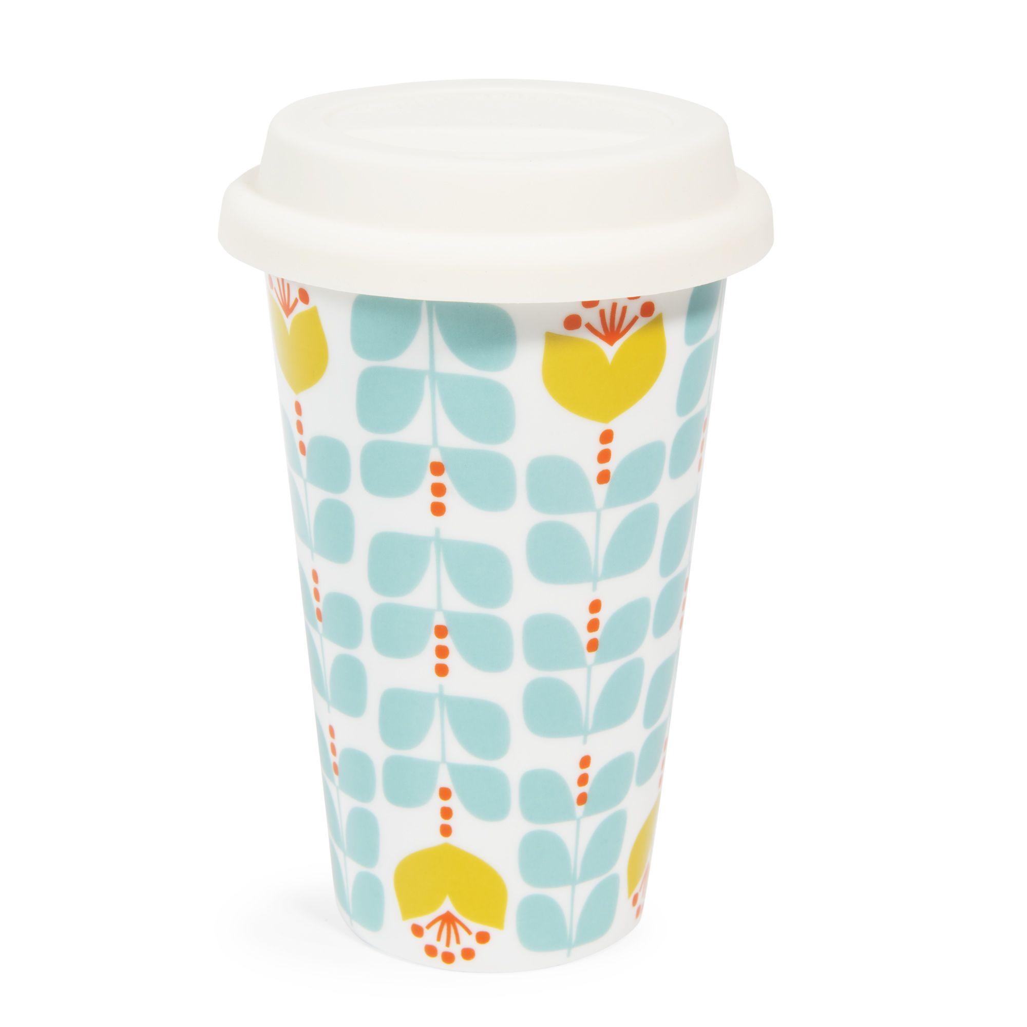 Mug da viaggio in porcellana blu verde brigitte products - Maison du monde mug ...