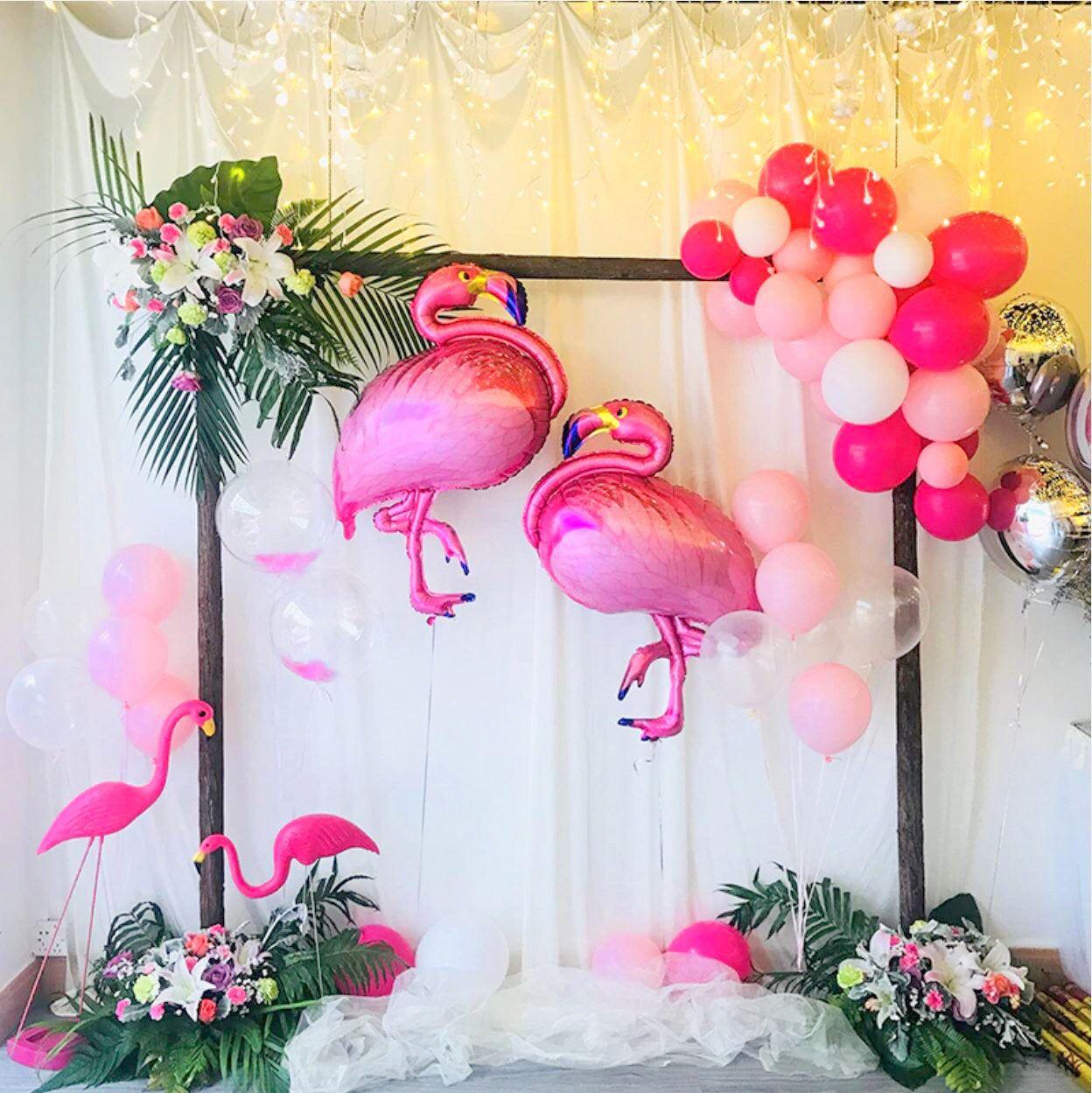 105cm Giant Flamingo Shape Foil Balloon Tropical Party Decor Etsy In 2020 Flamingo Themed Party Flamingo Birthday Luau Theme Party