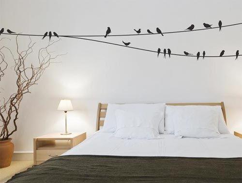 Birds on the wall woninginrichting in slaapkamer