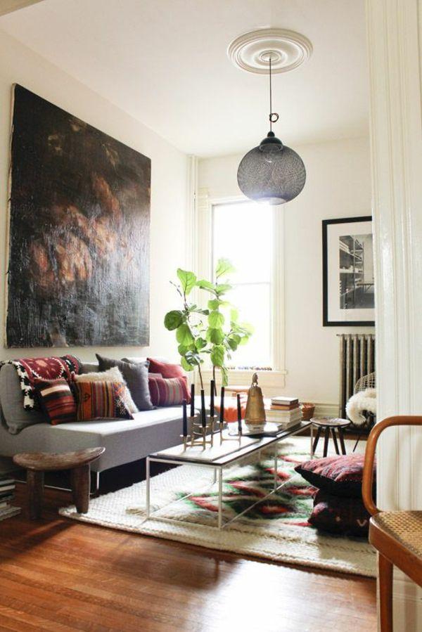 1001+ Wandfarben Ideen für eine dramatische Wohnzimmer ...