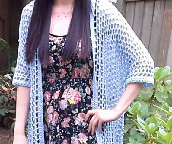Honeycomb Mesh Crochet Summer Cardigan Pattern Crochet Summer
