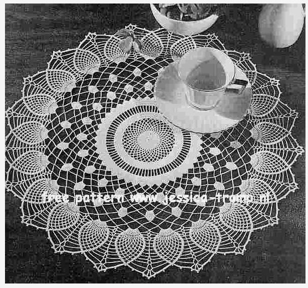 Pineapple Sheer English Pattern For Doily Free Vintage Crochet