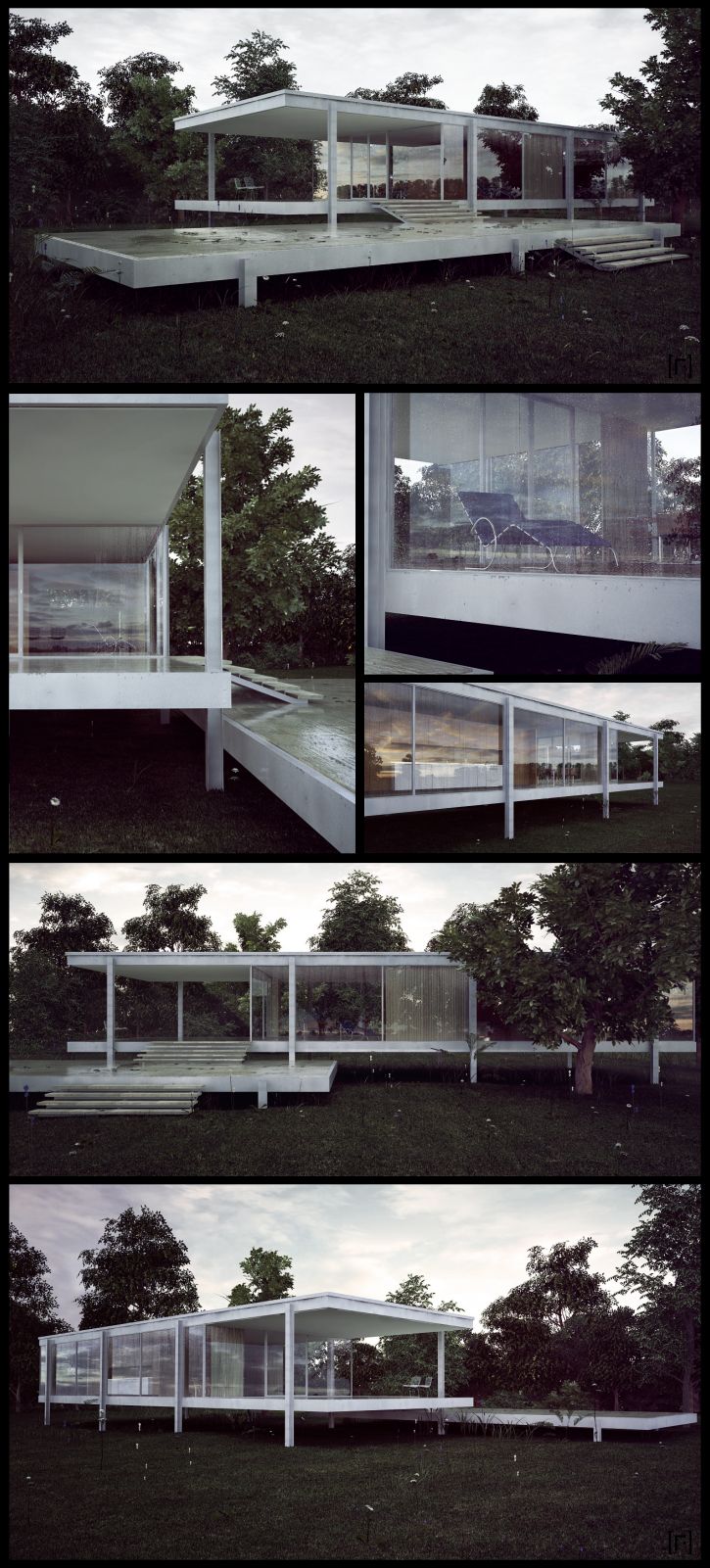 Farnsworth House Final by the-f-render.deviantart.com on @deviantART