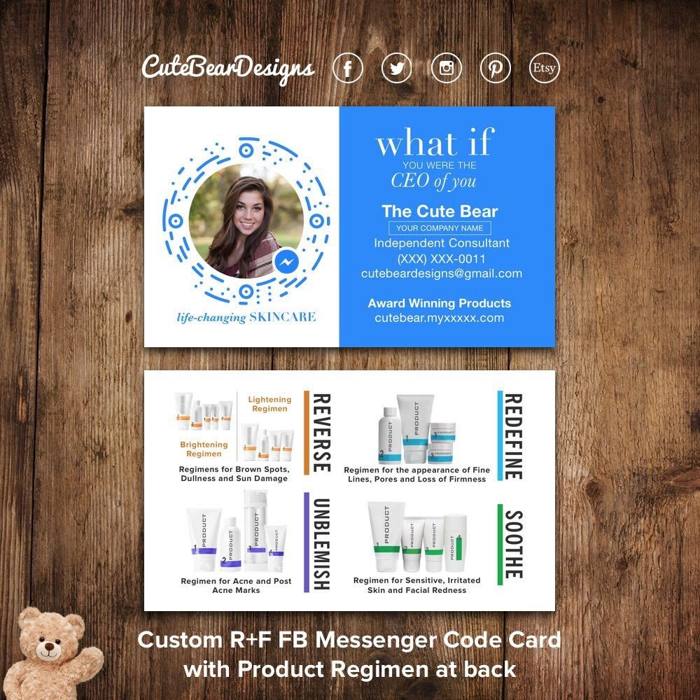 Cutebeardesigns shared a new photo on etsy storefront pinterest rodan and fields business cards facebook messenger profile code what if ceo product regimens digital printable colourmoves