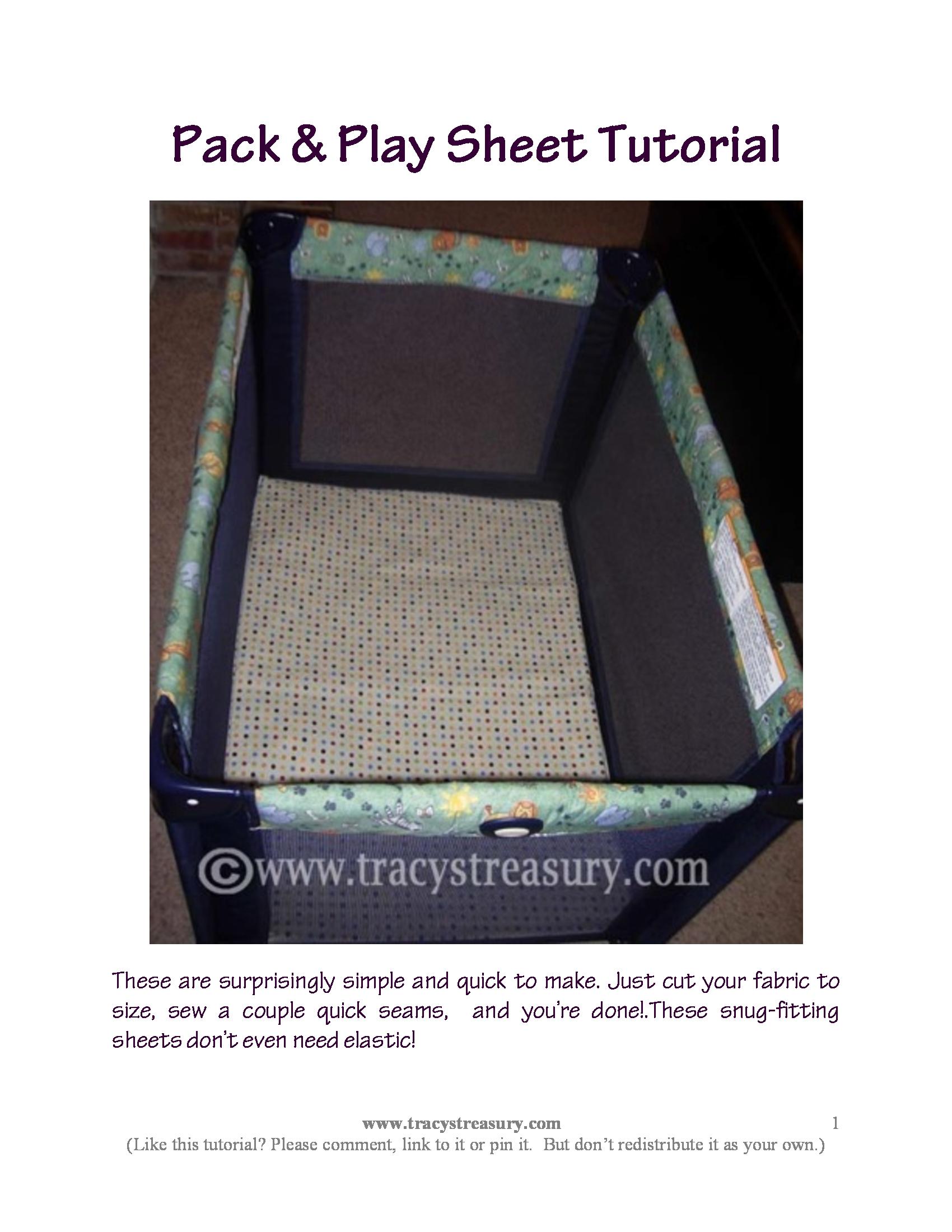 Pack n Play Sheet Tutorial Pack n play, Pack, play
