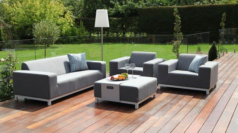 divano lounge devane 2 seat sofa set teak garden furnitureoutdoor