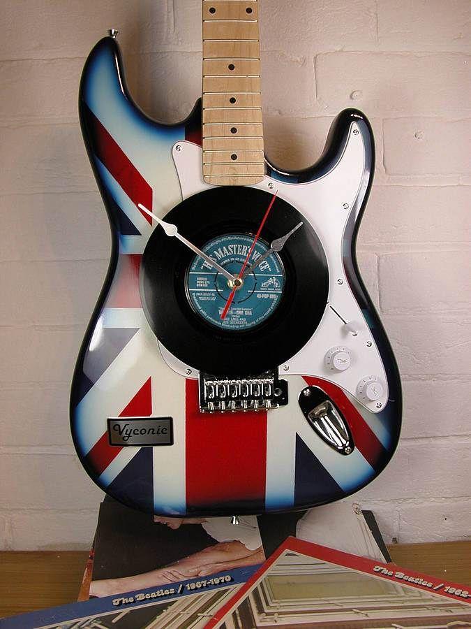 Vyconic Guitar Clock Music Classroom Decor Guitar Art Instruments Art