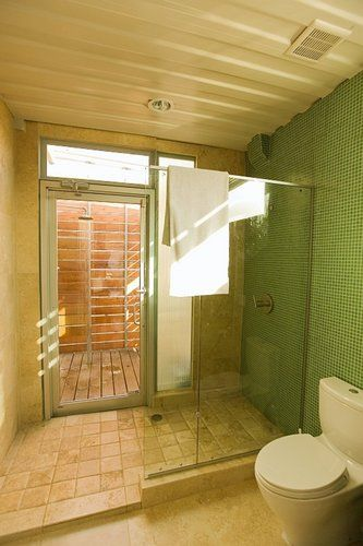 Shower With A Door To The Outside Shower Love It