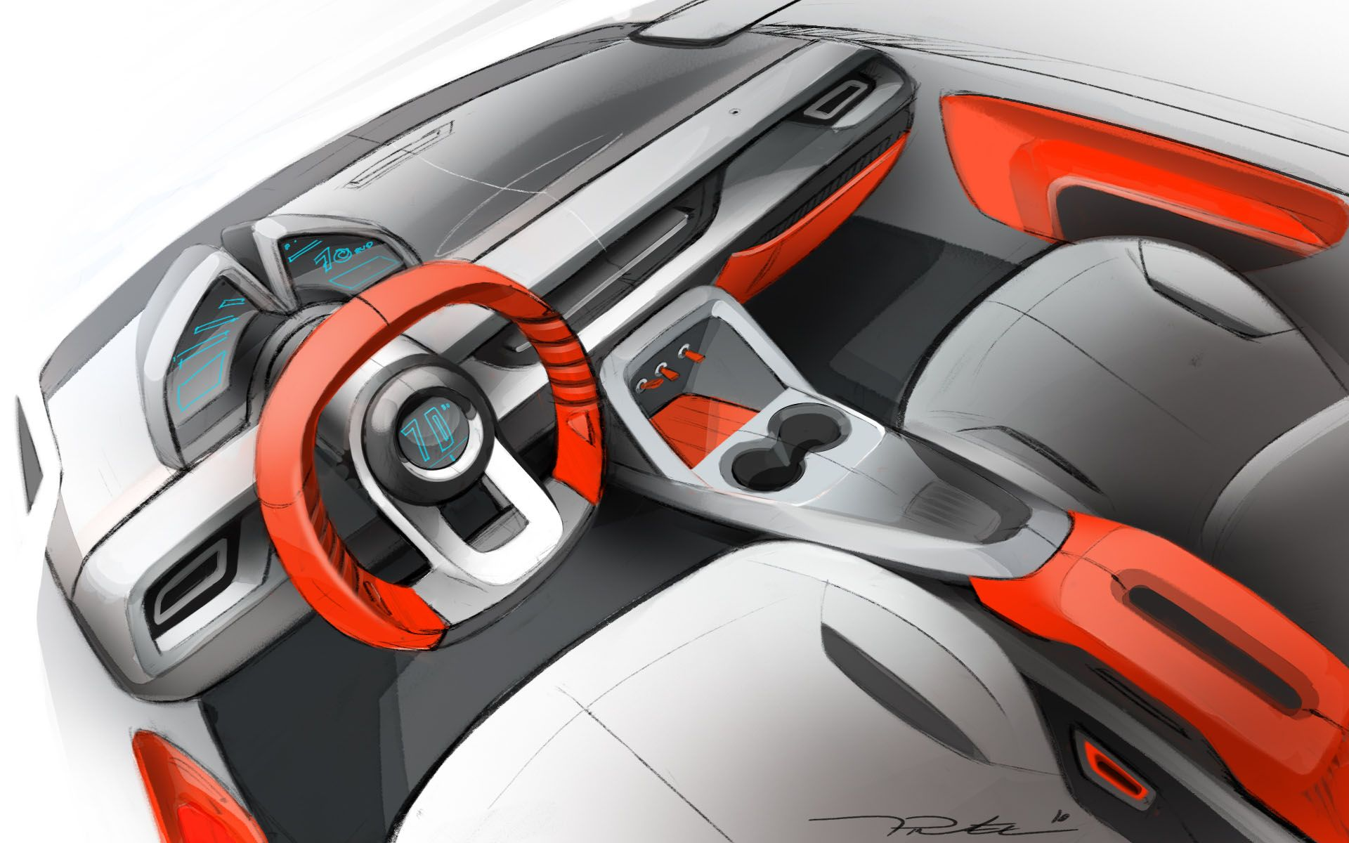 Interior car concept by thomas pinel at - Car interior design ...