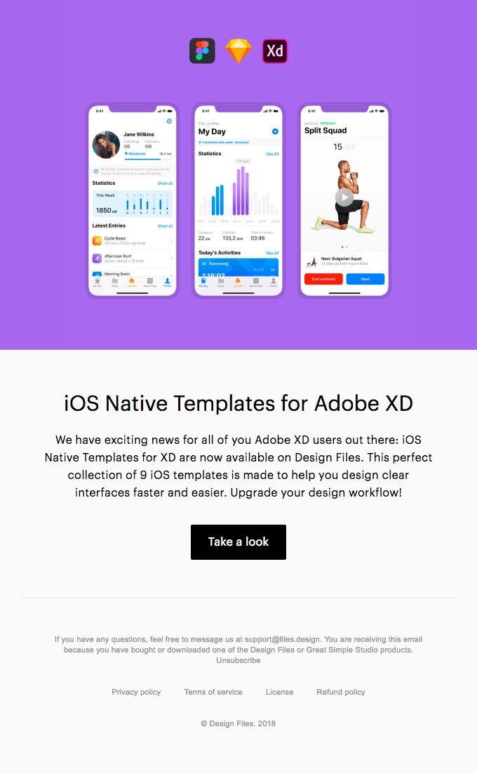 Ios Native Templates For Adobe Xd Available Now Really Good Emails Adobe Xd Best Email Email Templates