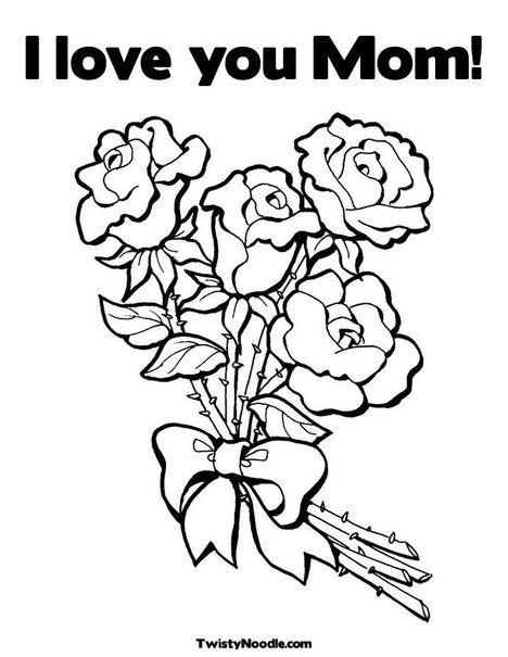 Kleurplaten Love You Oma.Moederdag Kleurplaat Coloring Page Mother S Day Modele