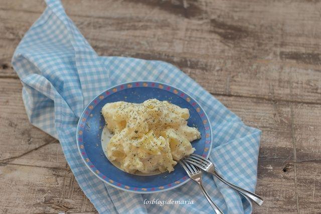 Patatas con mahonesa de queso