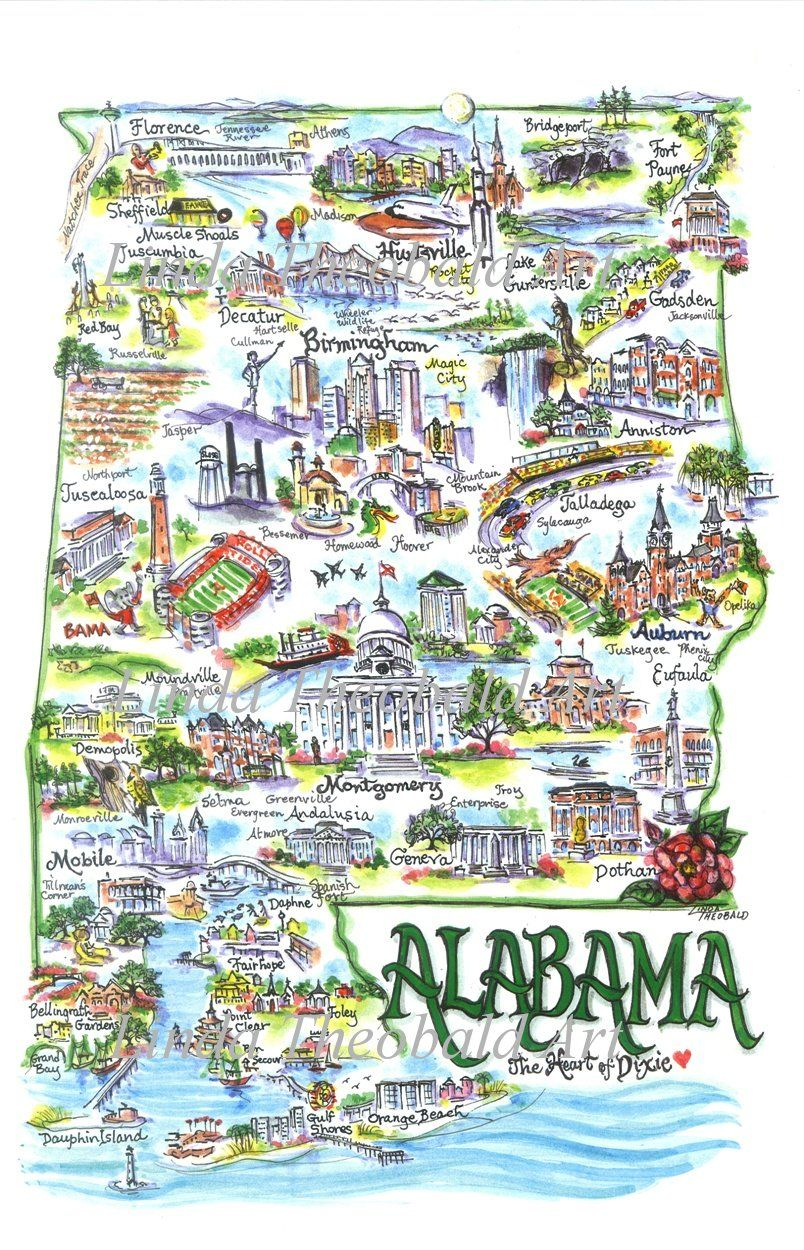Image detail for -State of Alabama I love to frame this for my room ...