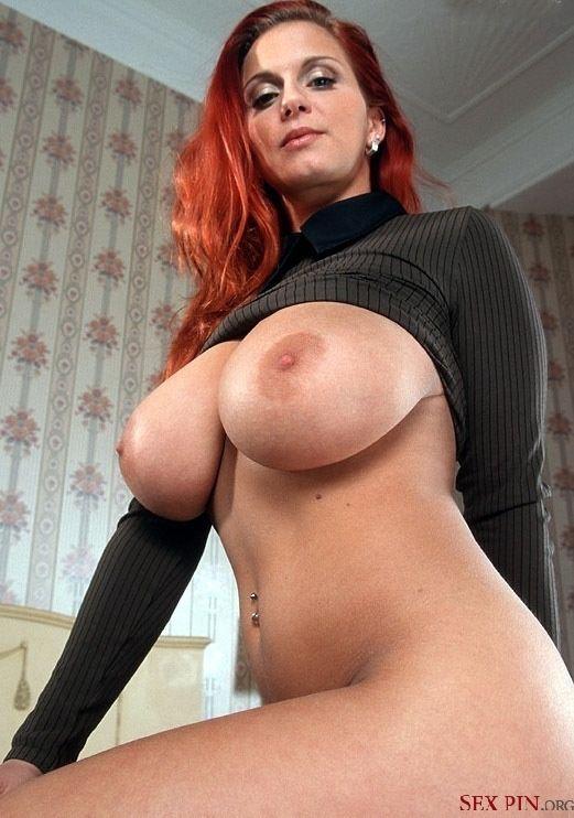 tits big milf redhead Hot