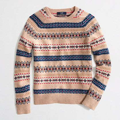 J.Crew lambswool fair isle sweater. Just bought this, and can't ...