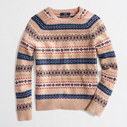 Factory lambswool Fair Isle sweater | J. Crew Factory - $68 ...
