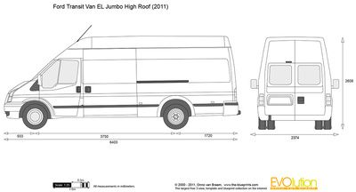 Ford Transit Van El Jumbo High Roof Transitional Decor Ford