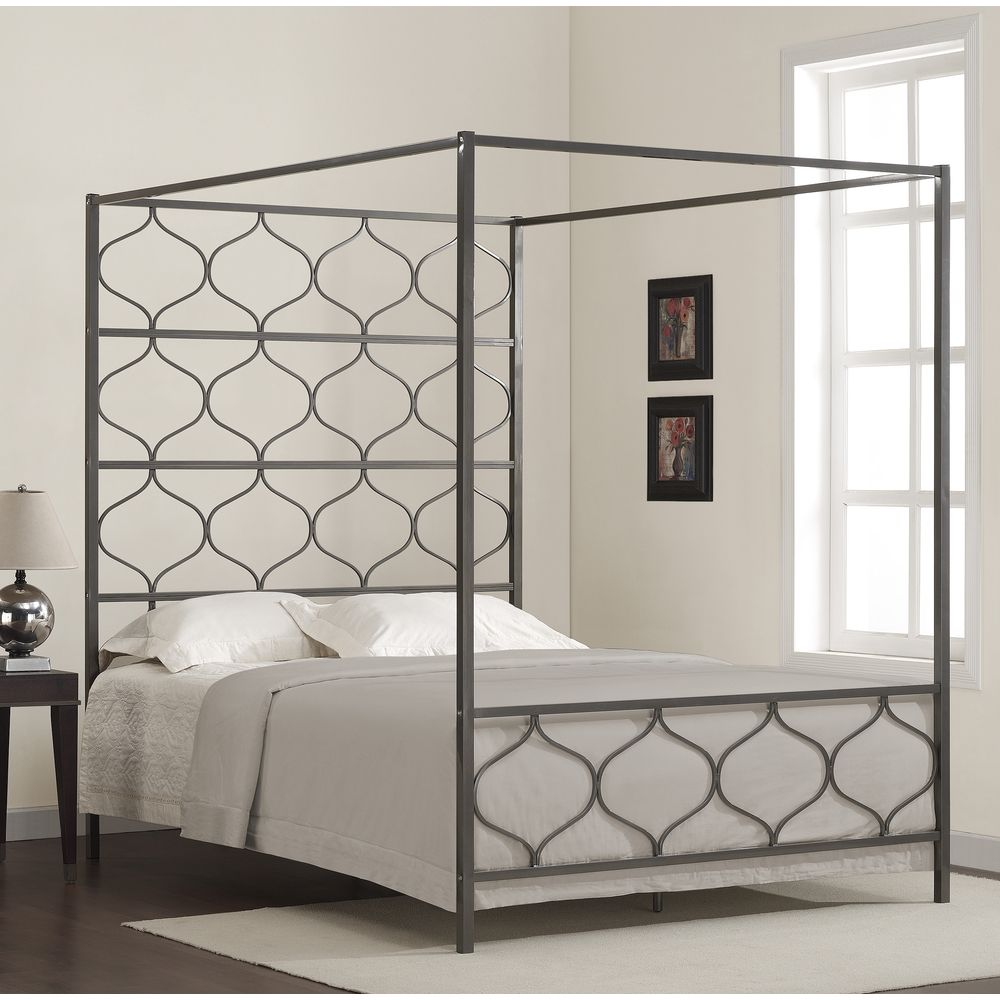 Marnie Queen Canopy Bed | Overstock.com Shopping - Great Deals on Beds & Marnie Queen Canopy Bed | Overstock.com Shopping - Great Deals on ...