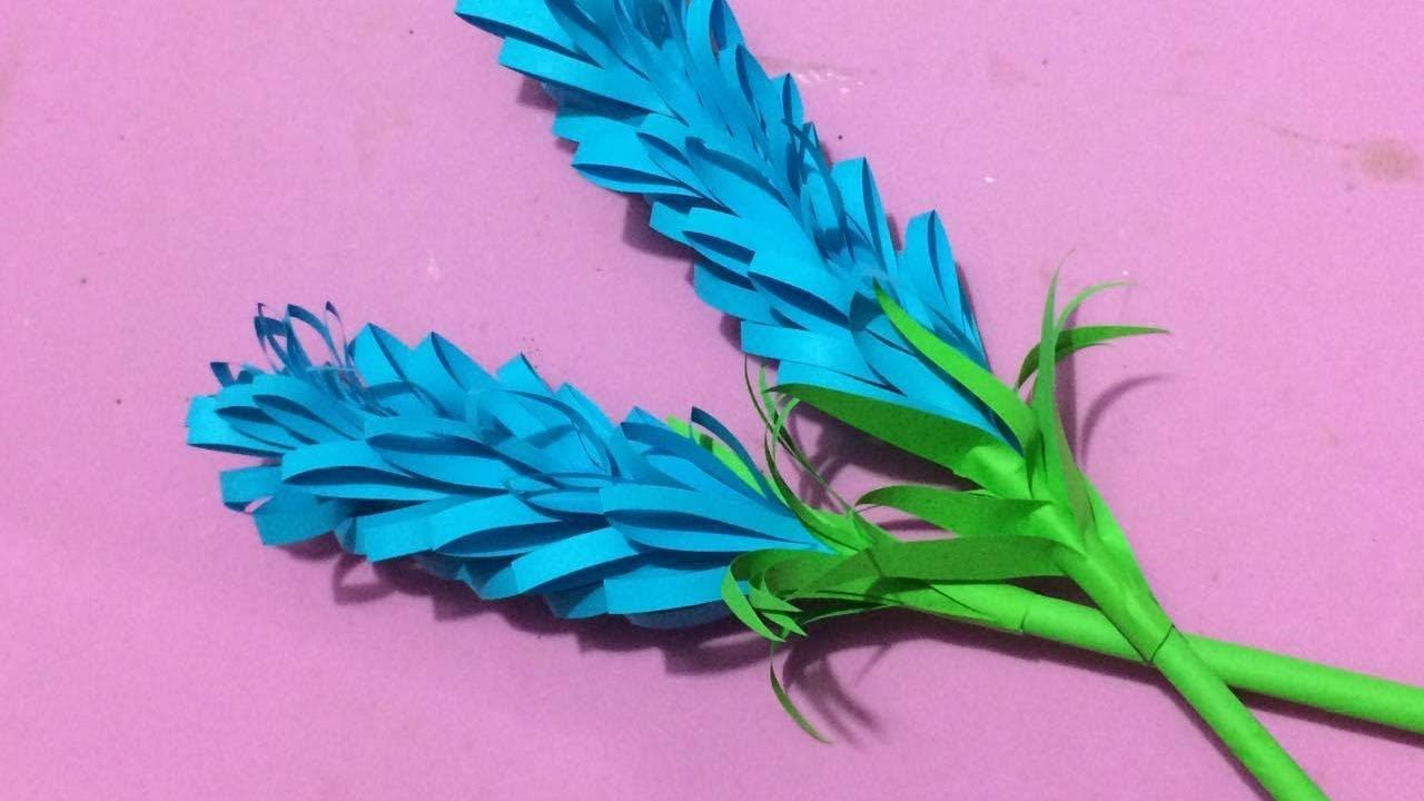 How To Make Lavender Flower With Paper Making Paper Flowers Step